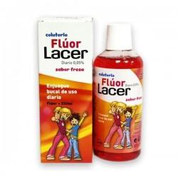 FLUOR DIARIO 0,05% LACER FRESA 500 ml