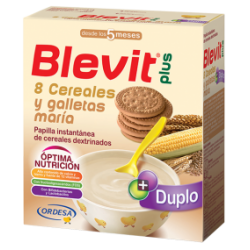 Blevit plus Duplo 8 cereales galletas maria 600gr