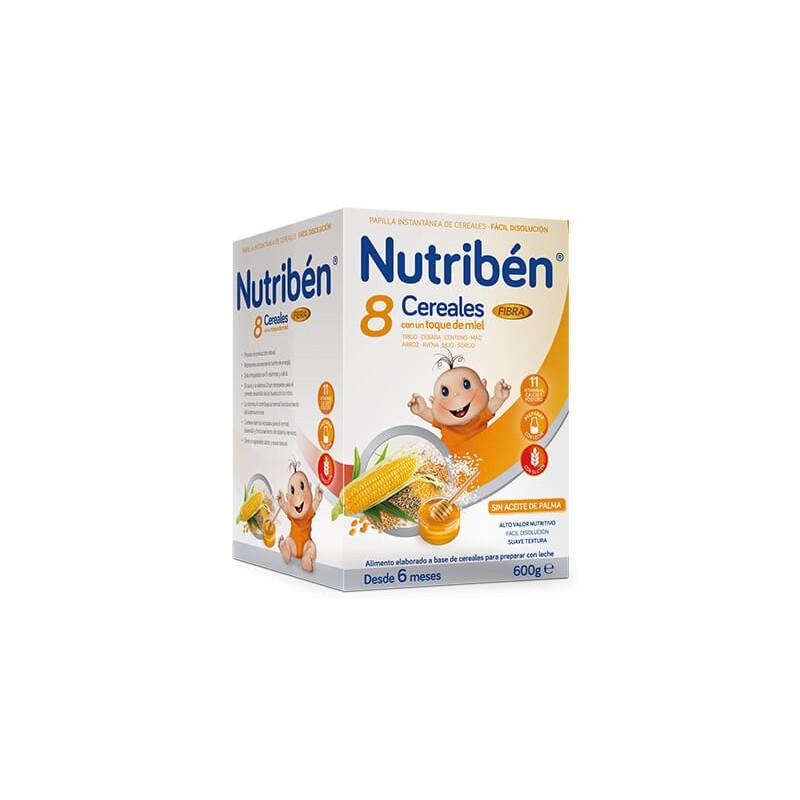 Nutribén Papilla 8 Cereales, Miel y Fibra 600gr