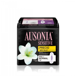 Ausonia Compresa Sensitive Normal Alas 14uds
